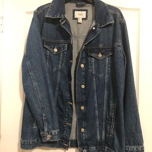 F21 oversized denim jacket